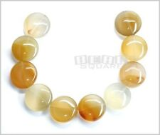 10 Natural Carnelian Flat Round Coin Beads 16mm #12010