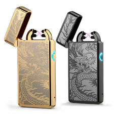 Double Arc Light USB Electronic Rechargeable Dragon Cigarette Lighter