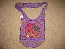 Large Embroidered Hippie Boho Cross Body Shoulder Bags