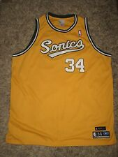 Authentic Seattle Sonics Throwback Ray Allen jersey okc thunder durant westbrook