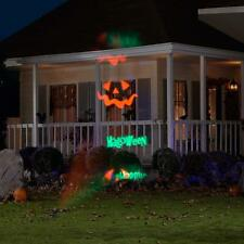 GEMMY HAPPY HALLOWEEN SIGN LED ANIMATED PUMPKIN JOL LIGHT SHOW OUTDOOR PROJECTOR
