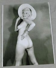 Erotik Akt Vintage Repro Foto -  nackte Blondine mit Hut (60)    /S138