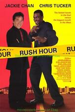 RUSH HOUR MOVIE POSTER JACKIE CHAN Chris Tucker + RUSH HOUR 2 Repaired Bonus !!
