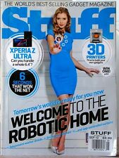 STUFF  Magazine WORLDs BEST SELLING GADGETS 3-D Printer ROBOTIC HOME $9 UK Sep13