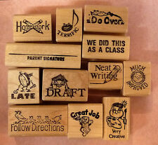 Teachers Rubber Stamp Set 12 , Great Time Savers