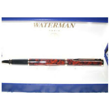 WATERMAN PREFACE MARBLE BROWN & GOLD TRIM ROLLERBALL  PEN NEW IN BOX