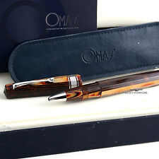 OMAS Celluloid Arco Brown Hi-Tech Trim Rollerball Pen