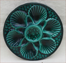 Vintage Oyster Plate French Majolica Vallauris Marius Gruge 60's C