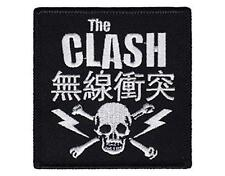 OFFICIAL LICENSED - THE CLASH - SKULL WOVEN SEW-ON PATCH PUNK STRUMMER