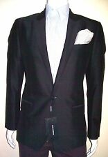 38R Blazer Slim SHINY Dolce Gabbana 1 Button Peak Lapel Made In Italy 38R US=48E