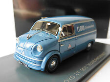 LLOYD LT 500 KUNDENDIENST 1955 LIGHT BLUE NEO 43874 1/43 SERVICE CLIENTS TOLE