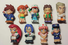 Nintendo Bandai Japan Pokemon Ash Misty Brock Anime Kid Figure Finger Puppet Lot