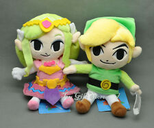 2PCS New Legend of Zelda Plush Doll Stuffed Toy Waker Link & Princess 7-7.5""