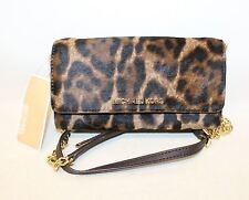 BNWT MICHAEL KORS Ladies Leopard Print Calf Hair Small Purse Cross Body Bag