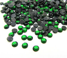 Free shipping 800pcs 3MM Round Iron On Hotfix Crystal Rhinestones deep green