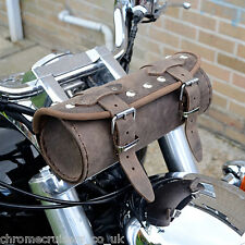MOTORCYCLE BROWN LEATHER TOOL ROLL BAG TRIUMPH ROCKET BONNEVILLE THUNDERBIRD