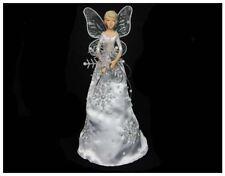 GISELA GRAHAM 19cm FROST FANTASY FAIRY ANGEL CHRISTMAS TREE TOPPER DECORATION