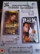 WWE Tagged Classic THE ROCK Peoples Champ / Just Bring It WWF PAL UK 2 Disc Set