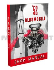 1952 Oldsmobile Shop Manual 52 Olds Repair Service Book Deluxe Super 88 and 98