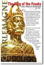 Charlemagne - King of the Franks - Social Studies History Classroom NEW POSTER