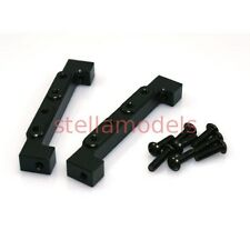 Aluminum Front Dual Servo Stays (Black, 2Pcs.) for 1/14 Tractor Trucks (G-6001)