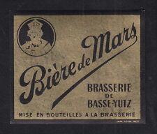 Ancienne étiquette Alcool Bière France BN10164 Bière de Basse Yutz Bière de Mars