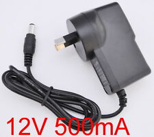 AC 100-240V Converter Adapter DC 12V 500mA 0.5A Power Supply AU 5.5mm x 2.1mm