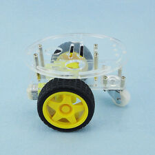 1Set 2WD Mini Round Double-Deck Smart Robot Car  VC best DIY Kit for Arduino