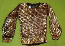 Topshop Gold/Copper Sequin Jumper size 6 rrp £60