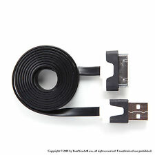 3ft Black Flat Noodle Data Sync Charging cable for iPhone 3 3g 3gs 4 4g 4s iPod