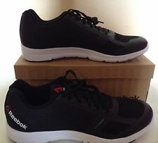 NEW REEBOK QUANTUM LEAP MENS COMFORT RUNNING SHOES BLACK & WHITE‏  MS5