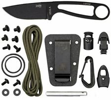 ESEE Black Knife Sheath Fire Starter Split Rings Paracord Whistle IZULA-B-KIT