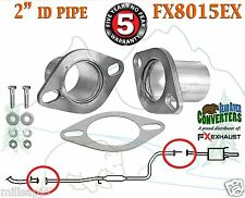 "2"" ID Universal QuickFix Exhaust Oval Flange Repair Pipe Kit Gasket FX8015EX"