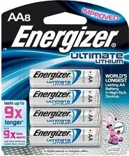 Energizer Ultimate Lithium AA Batteries 8 Pack Exp. 2036 (L91BP-8)