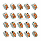 20 x Spring Terminal Block Cable 2 Wire Conductor Compact Connector 28-12AWG 412