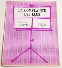Partition vintage sheet music ADAMO : La Complainte des Elus * 60's