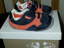 Brand New Boys Clarks Leather First Shoes Size 3G Tiny Lee