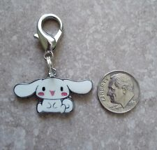 New Hello Kitty Enamel Charm Cinnamoroll Puppy Zipper Pull Backpack Clip White