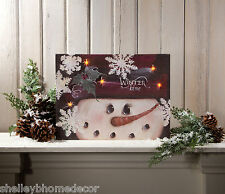 Winter Time Snowman LED battery light Radiance Light Canvas wall art x46490 NEW