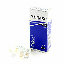 10x Neolux 12v 'Trade' 3w 501 W3W T10 TW2.1x9.5d Wedge Number Plate Bulbs Lights