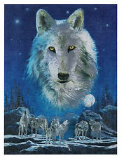 """Dufex Foil Picture Print - Night of the Wolves - size 6"""" x 8"""""""