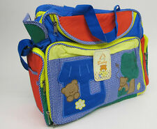 Diaper Nappy bags 3 PCE Set Multicolour Teddy Bear blue red DESIGNER STYLE NEW