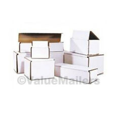 200 - 6 x 4 x 2 White Corrugated Shipping Mailer Packing Box Boxes