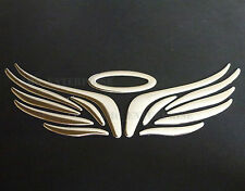 Self Adhesive Chrome Effect Angel Halo Heaven Badge Decals Stickers for Cars NEW