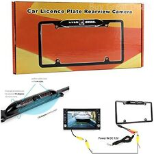 Car License Plate Frame Rearview Reverse Back-Up Camera Kit Night Vision Cam VDO