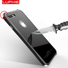 Luphie Rhombus Corner Aluminum Frame Gorilla Glass Back case for iPhone 7 Plus