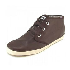 Womens Keds Chukka Brown Champion Leather Fur Lined Hi-Top Trainers Shoes Size