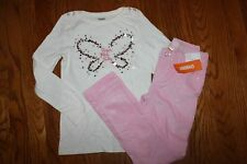 NWT Gymboree Cozy Fairytale Size 7 Set Sequin Butterfly Top Pink Corduroy Pants