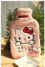Hello Kitty Pink Hot Water Bottle Fluffy Plush Bag Pink 1000ml HB93