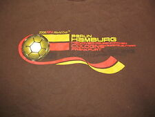Berlin Hamburg 2006 FIFA WORLD CUP GERMANY Brown t-shirt Men's 2XL 25 in by 29in